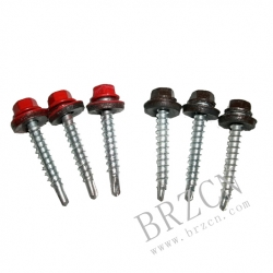 hex washer head self-drilling screw with painting