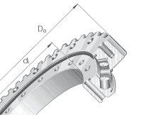 Cross roller slew ring bearing